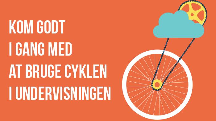Billede af folder om at bruge cyklen i Undervisningen.